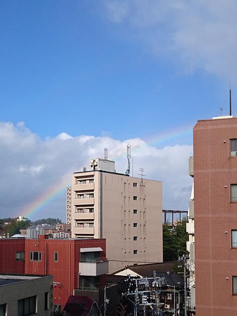 タブロから見た虹